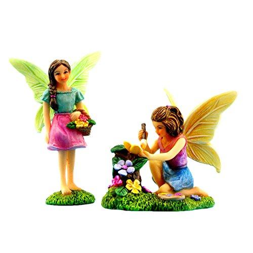 Pretmanns Fairy Garden Feen mit Miniatur-Feen-Figuren ideal für Feen-Garten