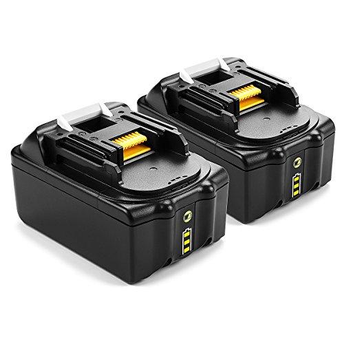 2 Stück Energup 18V 50Ah Lithium-Ionen-Akku Ersatz Akku für Makita BL1850 BL1840 BL1830 BL1815 194205-3 194309-1 LXT400 Werkzeugakkus