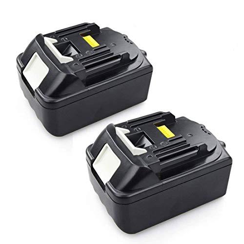 2 Stück 180V 50Ah Akku für Makita BL1850 196672-8 Li Ion Werkzeugakkus LG Zellens  Ersetzen BL1840B BL1830 BL1815