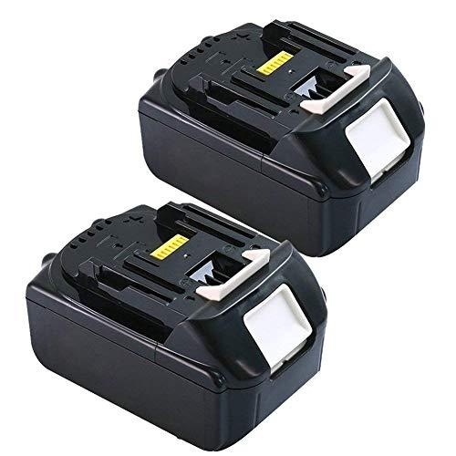 Flylinktech für Makita Ersatz Akku 18v 40Ah Werkzeugakkus 2 Stück Makita Ersatzakkus BL1850 BL1840 BL1830 BL1815 LXT400 BL1860 BL1860B BL1825