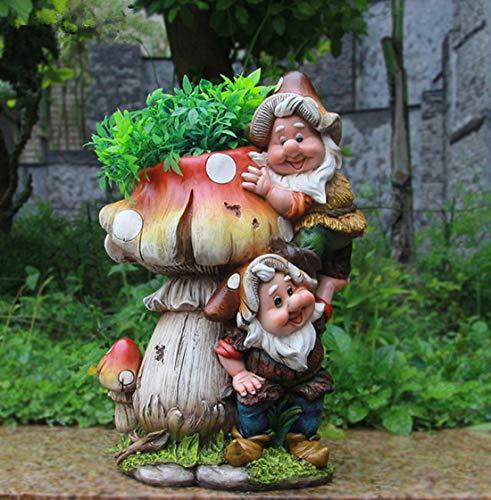 Design Zwerg Pilz mit Blumentopf NF 15199 32 cm Hoch Deko Garten Gartenzwerg Figuren Dekoration verschiedene Design