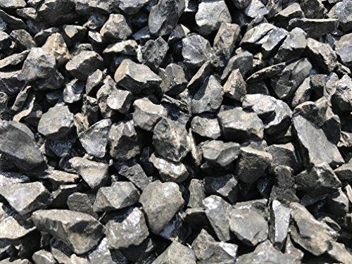 Marmorkies Marmorsplitt schwarz 40-60mm gebrochen 25kg Sackware Zierkies Nero Ebano