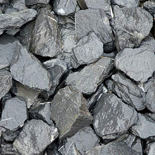 Zierkies Schieferplättchen Graphit-Schwarz 30-60 mm a 20 kg