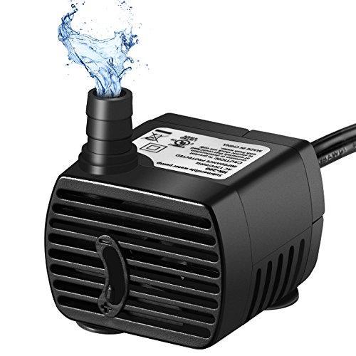OMORC Wasserpumpe200LH Aquariumpumpe220-240V 4W Water Pumpkleine Tauchpumpe widersteht trockenes Brennen48StdTeichpumpe mit 14M Netzkabelleise-Schwarz