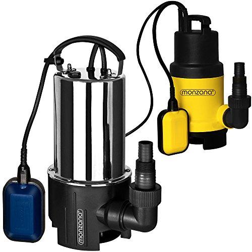 Wasserpumpe Tauchpumpe Tauchdruckpumpe  650 Watt  11500 lh  10 m Anschlußkabel  Farbe Schwarzsilber