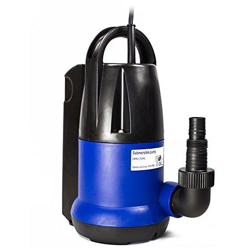 awm AM400-TK Tauchpumpe 400 Watt Flachsaugend Gartenpumpe Wasserpumpe Klarwasser 7000lh