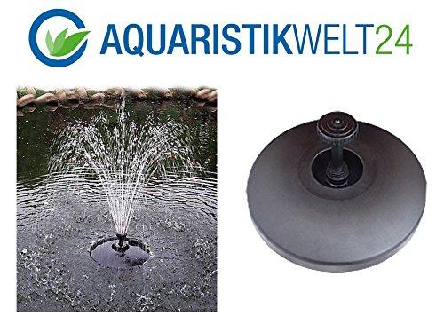 AQUARISTIKWELT24 Schwimmendes Springbrunnen Set inclPumpe und Aufsätze schwimmende Teich Fontäne