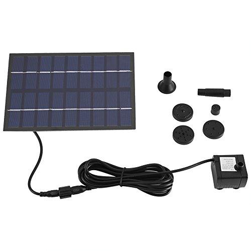 Solar Springbrunnen Pump Set Garten Solar Panel für Gartenteich Springbrunnen Vogelbad