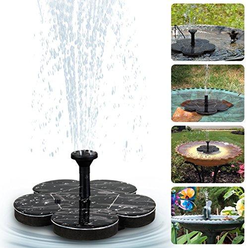 Solar Springbrunnen Tronisky Solar Teichpumpe Springbrunnen Solarpumpe Solar Wasserpumpe Fontäne Pumpe Schwimmender Dekoration für Gartenteich Vogel-Bad Fisch-Behälter Kleiner Teic