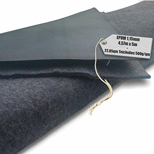 EPDM - Teichfolie Firestone 115mm in 5m x 457m  Vlies 500gqm