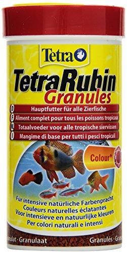 TetraRubin Hauptfutter in Granulatform mit natürlichen Farbverstärkern für Zierfische für intensive Farbenpracht 250 ml Dose