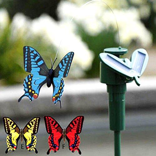 GEZICHTA Fluttering Butterfly Solarenergie Garten batteriebetrieben für Terrasse Garten-Pflanzen Blumen- Outdoor-Dekor zufällige Farbe