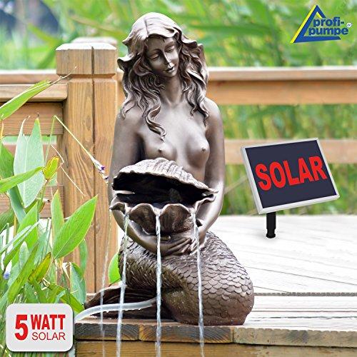 SPRINGBRUNNEN GARTENBRUNNEN SOLAR ZIERBRUNNEN Teichpumpe Set BRUNNEN Solar Meerjungfrau - SOLARBRUNNEN GARTENTEICH BRUNNEN SETVOGELBAD WASSERSPIEL für Garten Terrasse Teich Balkon sehr DEKORATIV VERBESSERTES MODELL MIT PUMPEN-INSTANT-START-FUNKTION