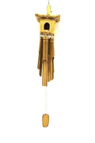 Ca 80cm Windspiel Vogelhaus Vogel Haus Bambus Klangspiel Guter beruhigender Klang