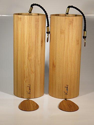 Klangspiel Koshi 2er Set nach Wahl Windspiel Yoga Entspannung Oberton Gartendeko Baby Senioren Wellness Klangtherapie Bambus