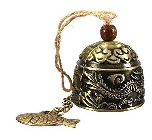 Fengshui Windspiel - chinesischer traditioneller Weinlese-Drache Fengshui-Glocke viel Glück Segnen fürs Haus hängendes Windspiel für den Garten