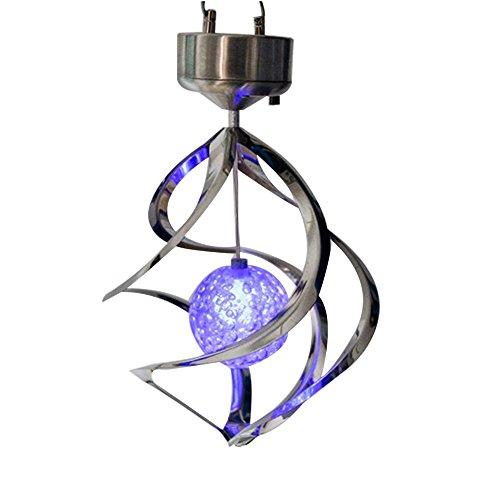 Zantac LED-Lampe im Freien hängendes Windspiel-Licht fürs Haus Garten Solarenergie-Lichter Windspinner Beleuchtungs-Dekoration