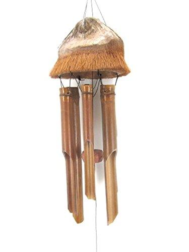 Ciffre Riesen 120cm Windspiel Klangspiel Feng Shui Garten Wetterfest Bambus Kokosnuss
