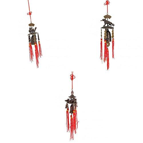 MagiDeal 3pcs Chinesische Traditionelle Windspiel Windglocke Klangspiel Garten Haus Fengshui Dekoration Geschenke