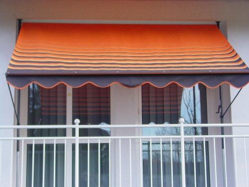 Angerer 2301200 Klemmmarkise Dralon Nr 200 Orange 250 cm