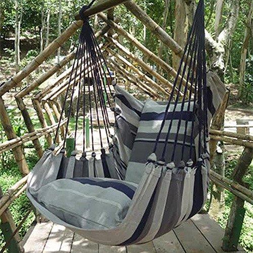 Holzenplotz Hängesessel Hängematte Hängestuhl aus Baumwolle mit 2 Kissen 3 Größen lieferb Größe XL 300