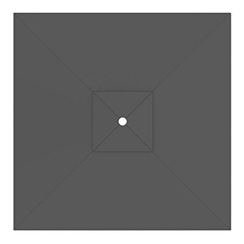 paramondo Sonnenschirm Bespannung ink Air Vent für interpara Sonnenschirm 3 x 3m grau