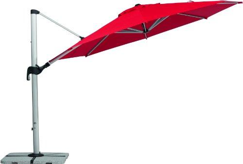 Schneider Sonnenschirm Barbados rot 350 cm rund Gestell Aluminium Bespannung Polyester 251 kg