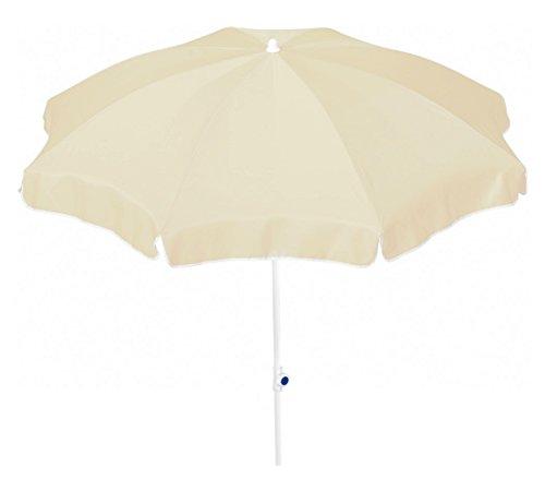 Dehner Gute Wahl Sonnenschirm Saturn Ø 200 cm Höhe 180 cm Polyester beige