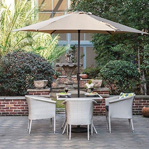 Grand Patio Gartenschirm Sonnenschutz UV-Schutz Sonnenschirm Ø 270CM rund Beige