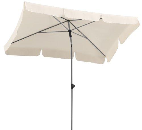 Schneider Sonnenschirm Locarno natur 180x120 cm rechteckig Gestell Stahl Bespannung Polyester 23 kg