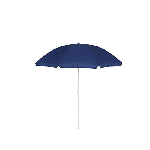 greemotion Sonnenschirm 2m mit UV-Schutz - Balkonschirm in Blau-Weiß - Gartenschirm knickbar - Terrassenschirm rund - Outdoor-Schirm für Balkon Terrasse Garten