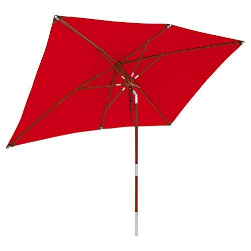 anndora Sonnenschirm Gartenschirm knickbar - 2x3m eckig Wasserabweisend Rot