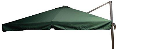 beo Sonnenschirme wasserabweisend ohne Standfuß Sonnenschutz eckig 3 x 3 m grün