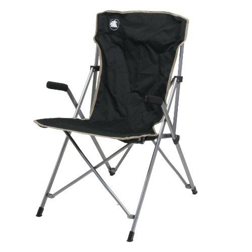 10T Slimboy XL Campingstuhl mit gepolsterten Armlehnen stabiler Klappstuhl kompakter Gartenstuhl klappbarer Hochlehner bequemer Angelstuhl inkl Packsack