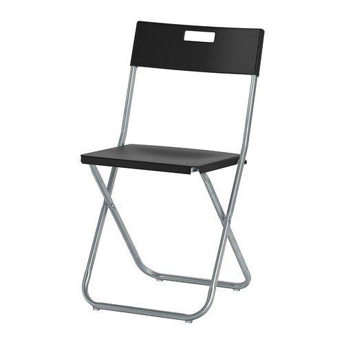 Ikea GUNDE Klappstuhl in schwarz