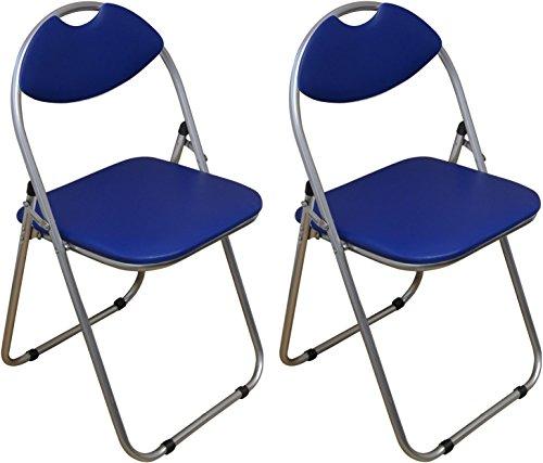 Klappstuhl - gepolstert - Blau - 2 Stück