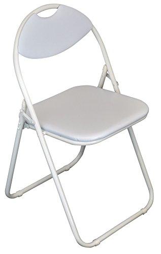Klappstuhl - gepolstert - komplett weiß - 1 Stück