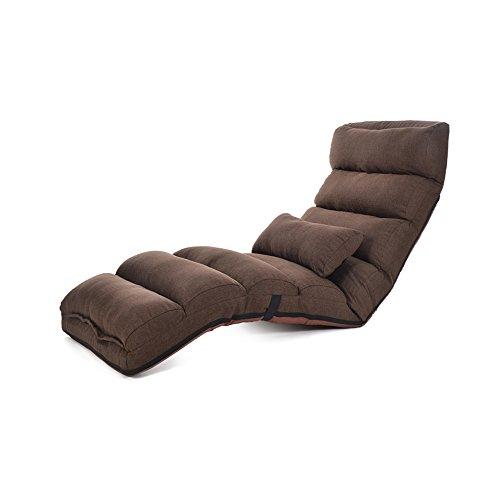 YANFEI Lazy Sofa Multi-Speed Adjustment Faltbare Single Stuhl Waschbar Stoff Liege Sofa Stuhl Wohnzimmer Schlafzimmer Balkon Lounge Chair Farbe  Brown