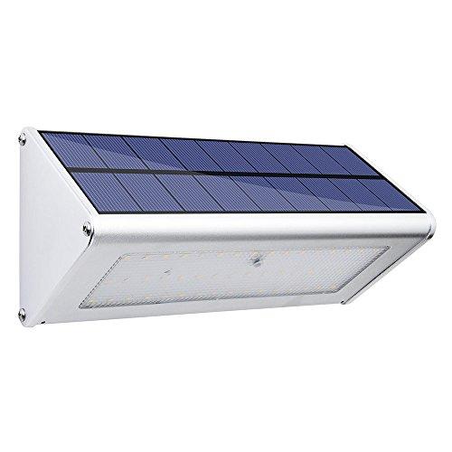 Felicon Solar-Lumen LED-Lichterkette wasserdicht Aluminium für den Außenbereich Wand-Bewegungsmelder-Licht Treppe Garten-Tor Modern 48led-1 Pack