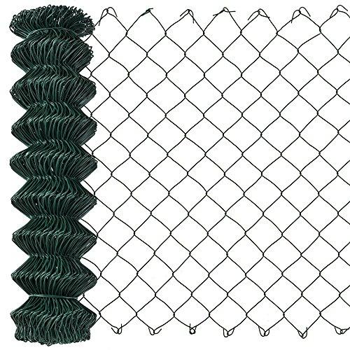 protec Maschendrahtzaun grün verzinkt 80cm x 15m Schweißgitter Volierendraht Zaun