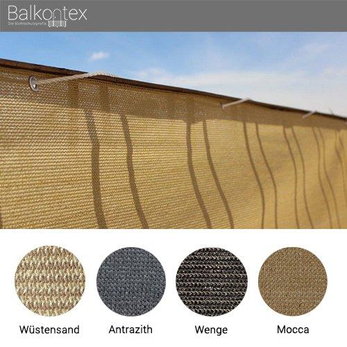 Balkonbespannung Balkonumrandung Balkonverkleidung Balkonsichtschutz Prompt 75x600cm Wüstensand