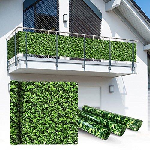 Balkon Sichtschutz 6x075m Buchsbaum Look Balkonsichtschutz Balkonverkleidung Sichtschutzmatte Balkonverkleidung Balkonbespannung