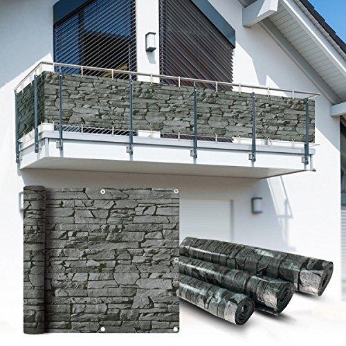 Balkon Sichtschutz 6x075m Schiefer Look Balkonsichtschutz Balkonverkleidung Sichtschutzmatte Balkonverkleidung Balkonbespannung
