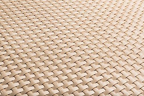 Polyrattan Balkonverkleidung Sichtschutz Balkonsichtschutz anthrazit braun weiß schwarz Kupfer grün Meterware Balkonbespannung 1749€  Quadratmeter H 110cm RD18 -hell beige