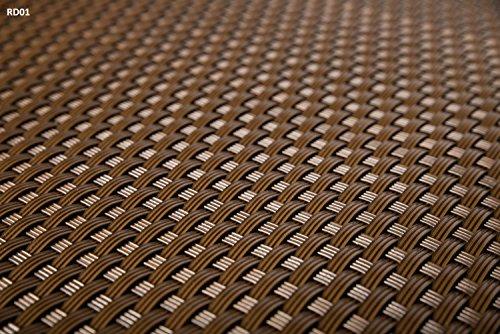 Sellon24 Balkonsichtschutz mit Ösen Windschutz Balkonbespannung Balkonverkleidung PE-Rattan Höhe 110cm RD01-hell braun