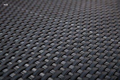 Sellon24 Polyrattan Balkonverkleidung Sichtschutz Balkonsichtschutz anthrazit braun weiß schwarz Kupfer grün Meterware Balkonbespannung 1749€  Quadratmeter H 100cm RD03 - anthrazit