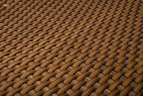 Sellon24 Polyrattan Balkonverkleidung Sichtschutz Balkonsichtschutz anthrazit braun weiß schwarz Kupfer grün Meterware Balkonbespannung 1749€  Quadratmeter H 100cm RD13 - Honig