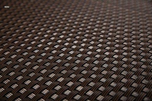 Sellon24 Polyrattan Balkonverkleidung Sichtschutz Balkonsichtschutz anthrazit braun weiß schwarz Kupfer grün Meterware Balkonbespannung 1749€  Quadratmeter H 110cm RD02 - dunkel braun