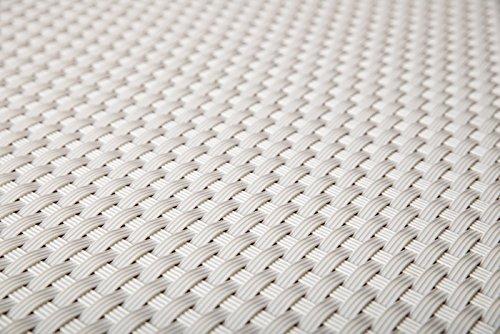 Sellon24 Polyrattan Balkonverkleidung Sichtschutz Balkonsichtschutz anthrazit braun weiß schwarz Kupfer grün Meterware Balkonbespannung 1749€  Quadratmeter H 90cm RD07 - weiß