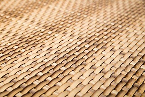 Sellon24 Polyrattan Balkonverkleidung Sichtschutz Balkonsichtschutz anthrazit braun weiß schwarz Kupfer grün Meterware Balkonbespannung 1749€  Quadratmeter H 90cm RD08 - Stroh